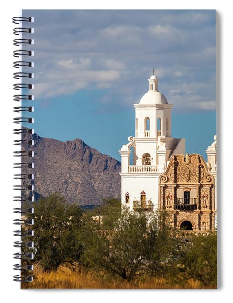 Spiral Notebook featuring the photograph The Mission And The Mountains by Ed Gleichman