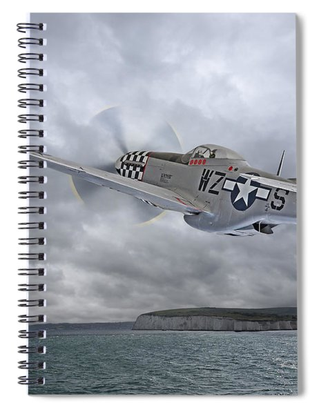 The Mission - P51 Over Dover Spiral Notebook
