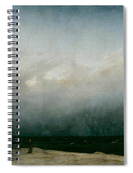 Monk By The Sea  Spiral Notebook