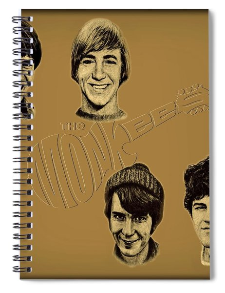 Spiral Notebook featuring the photograph The Monkees  by Movie Poster Prints