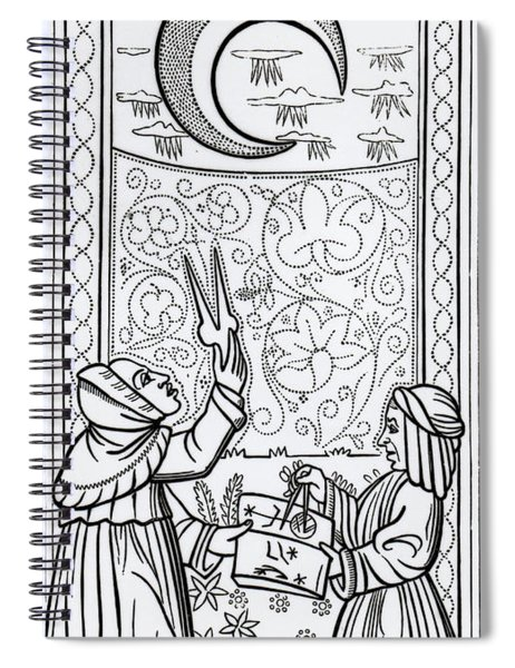 The Moon  Tarot Card Spiral Notebook