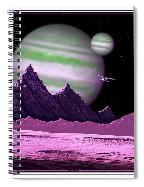 The Moons Of Meepzor Spiral Notebook