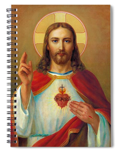 The Most Sacred Heart Of Jesus Spiral Notebook