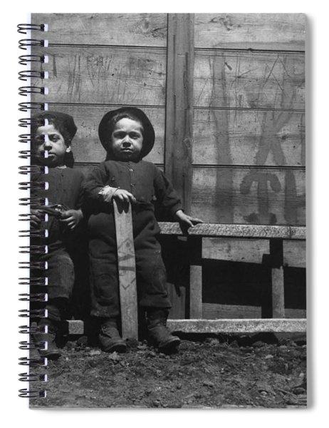 The Mott Street Boys   Keep Off The Grass  By Jacob Riis Spiral Notebook