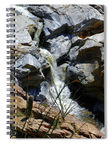 The Mountain Stream In Tucson Spiral Notebook
