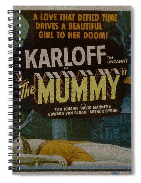 The Mummy 1929 Poster Boris Karloff Spiral Notebook