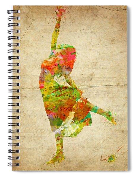 The Music Rushing Through Me Spiral Notebook