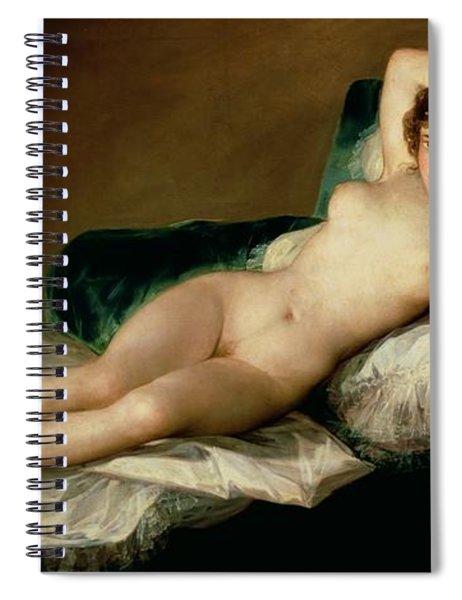 The Naked Maja Spiral Notebook by Goya