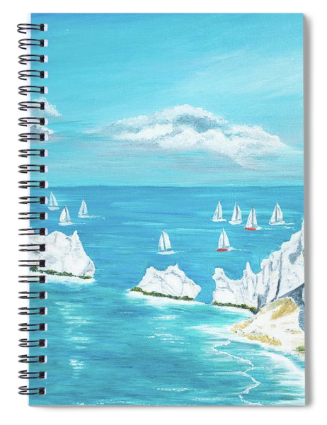 The Needles Isle Of Wight Spiral Notebook