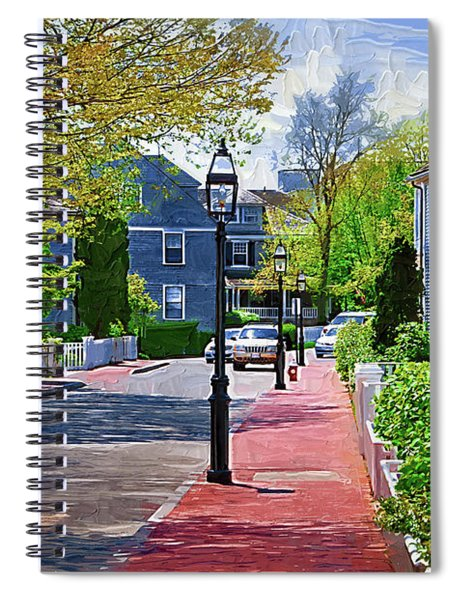 The New England Sidewalk Spiral Notebook
