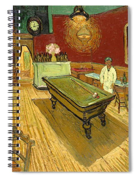 The Night Cafe Auto Contrasted Spiral Notebook
