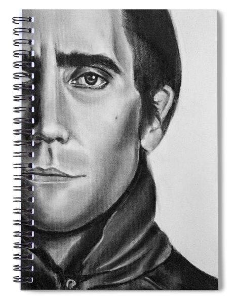 Nightcrawler Movie Art Drawing - Jake Gaalynhaal Charcoal Pencil Drawing - Ai P. Nilson Spiral Notebook