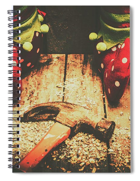 The North Pole Toy Factory Spiral Notebook