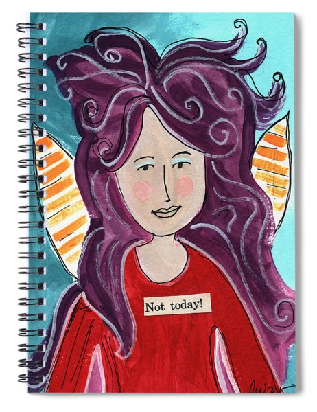 The Not Today Fairy- Art By Linda Woods Spiral Notebook
