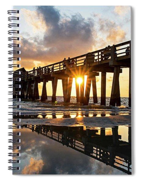Naples Pier At Sunset Naples Florida Spiral Notebook