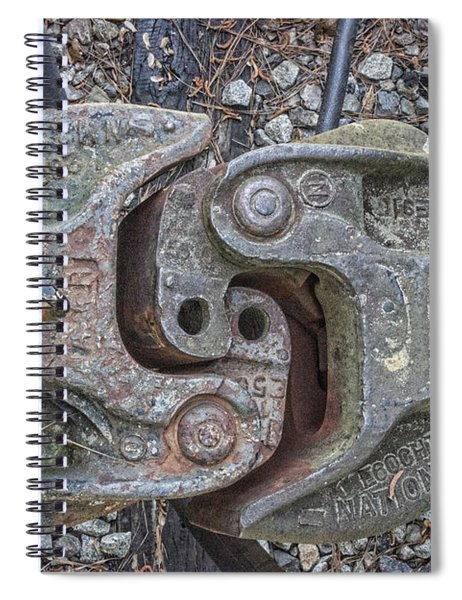 The Odd Coupler On Train Spiral Notebook