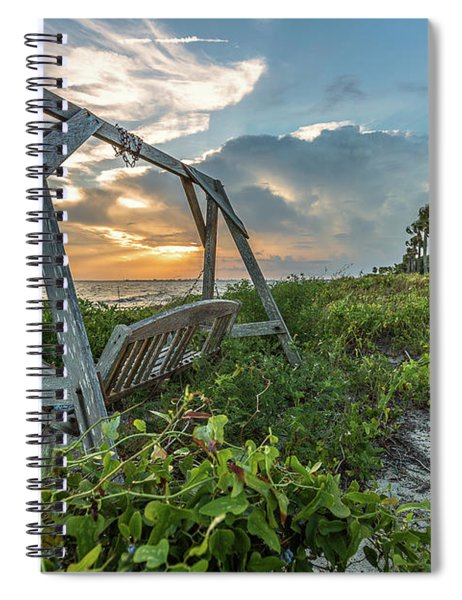 The Old Beach Swing -  Sullivan's Island, Sc Spiral Notebook
