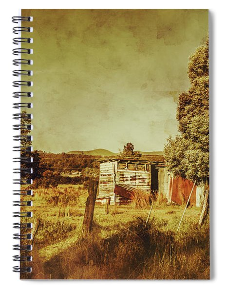The Old Hay Barn Spiral Notebook