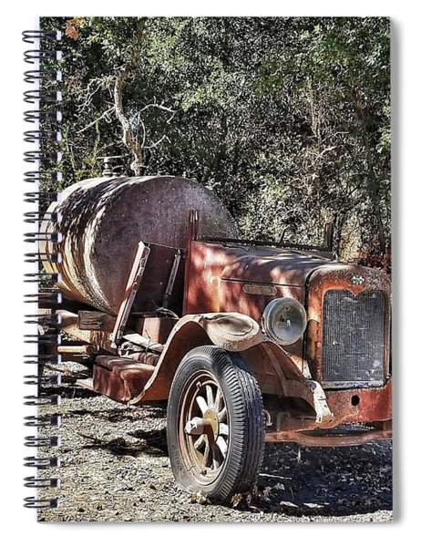 The Old Jalopy In Wine Country, California  Spiral Notebook