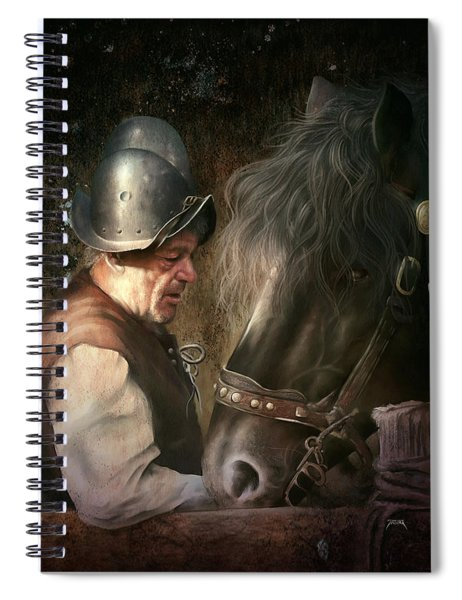 The Old Man And His Trusty Friend Spiral Notebook