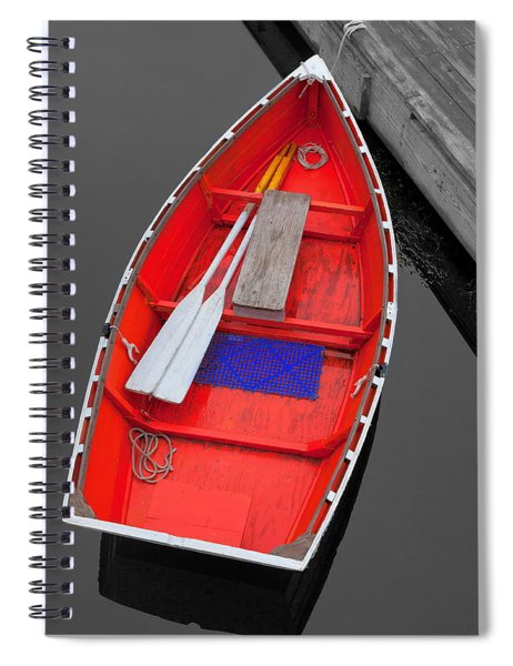The Old Red Lobster Boat  Spiral Notebook