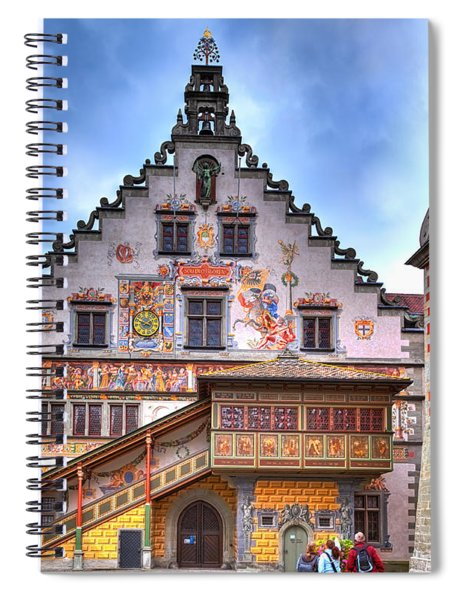 the old townhall on the island of Lindau at the Lake Constance Spiral Notebook