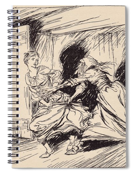 The Old Woman Seized Her By The Gown Spiral Notebook