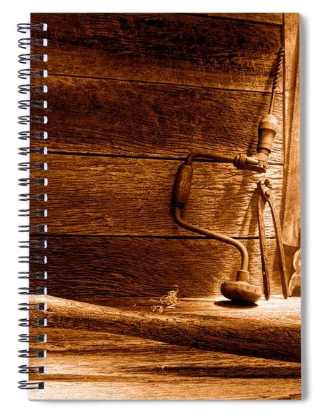 The Old Workshop - Sepia Spiral Notebook