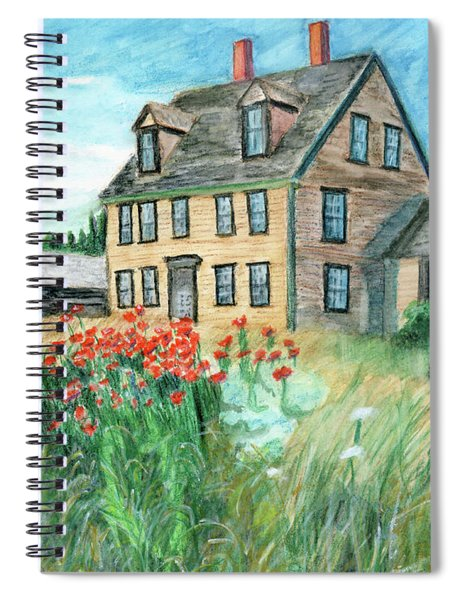 The Olson House With Poppies Spiral Notebook
