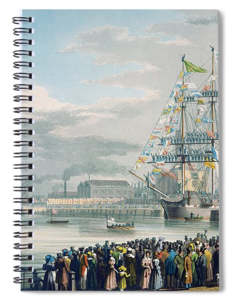 The Opening Of Saint Katharine Docks Spiral Notebook