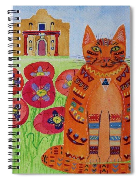 the Orange Alamo Cat Spiral Notebook