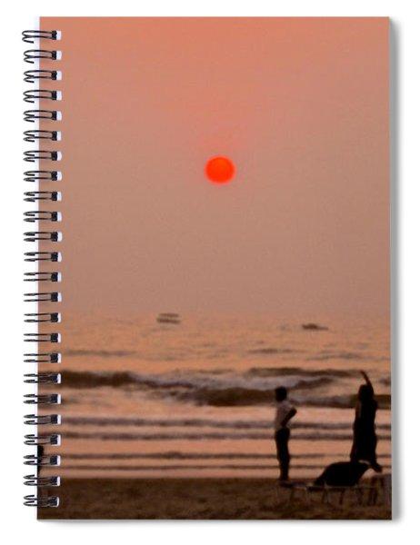 The Orange Moon Spiral Notebook