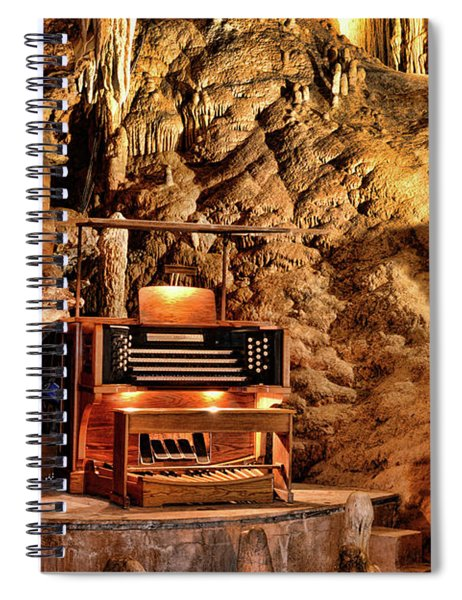 The Organ In Luray Caverns Spiral Notebook