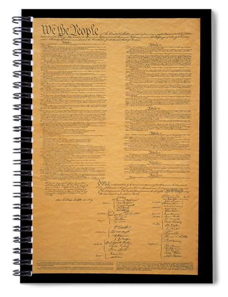 The Original United States Constitution Spiral Notebook