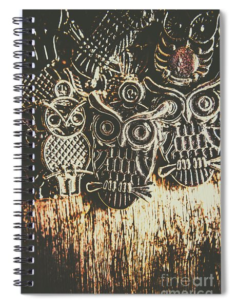 The Owlactic Gathering Spiral Notebook
