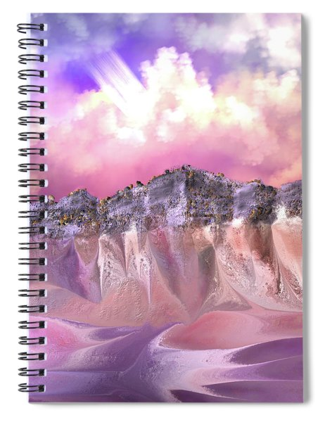 The Painted Sand Rocks Spiral Notebook