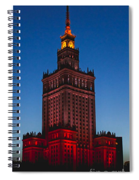 The Palace Of Culture And Science  Spiral Notebook
