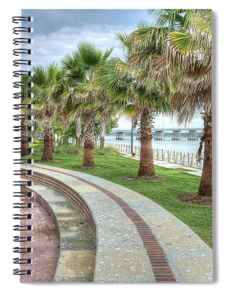 The Palms Of Water Front Park Spiral Notebook