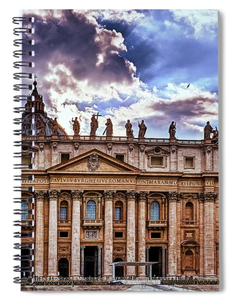 The Papal Basilica Of Saint Peter Spiral Notebook