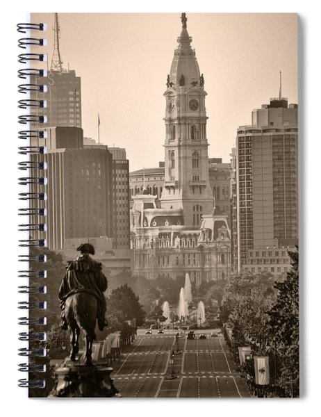 The Parkway In Sepia Spiral Notebook