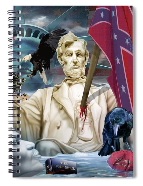The Party Of Lincoln Days At An End Spiral Notebook
