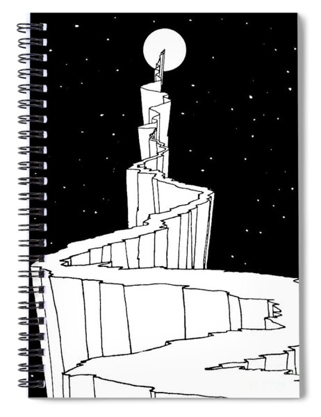 The Path To The Moon Spiral Notebook