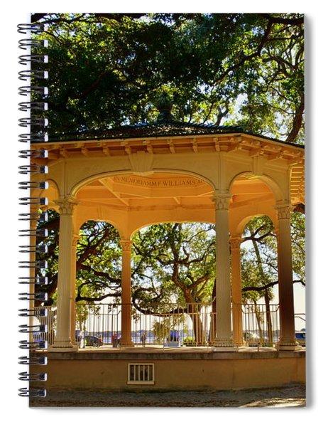 The Pavilion At Battery Park Charleston Sc  Spiral Notebook