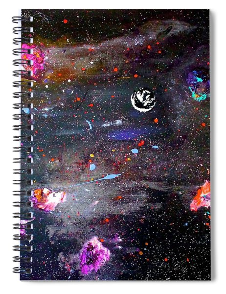 Spiral Notebook featuring the painting The Perfect Storm by Michael Lucarelli
