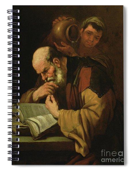 The Philosopher By Jusepe De Ribera Spiral Notebook
