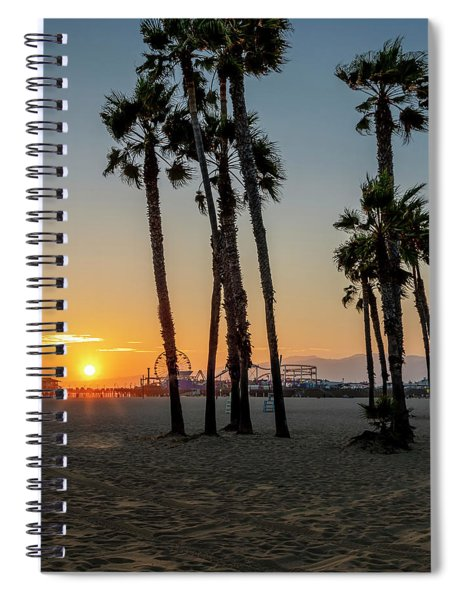 The Pier At Sunset - Square Spiral Notebook