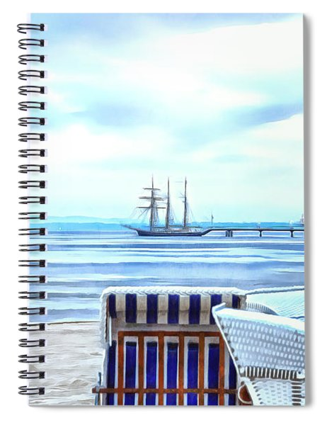 The Pier Of The Seaside Resort Heringsdorf Spiral Notebook