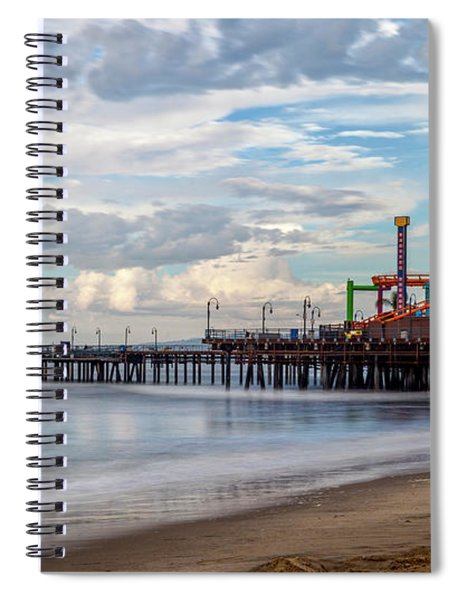 The Pier On A Cloudy Day Spiral Notebook