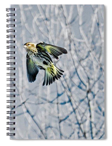 The Pine Siskin In-flight Spiral Notebook