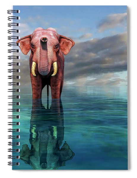The Pink Elephant Spiral Notebook